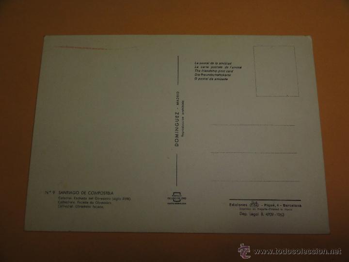 Postales: POSTAL SANTIAGO DE COMPOSTELA. CATEDRAL - Foto 2 - 42521348