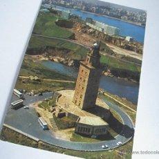 Postales: POSTAL-ESPAÑA-LA CORUÑA-TORRE DE HERCULES-1960S-CIRCULADA-.. Lote 42548795