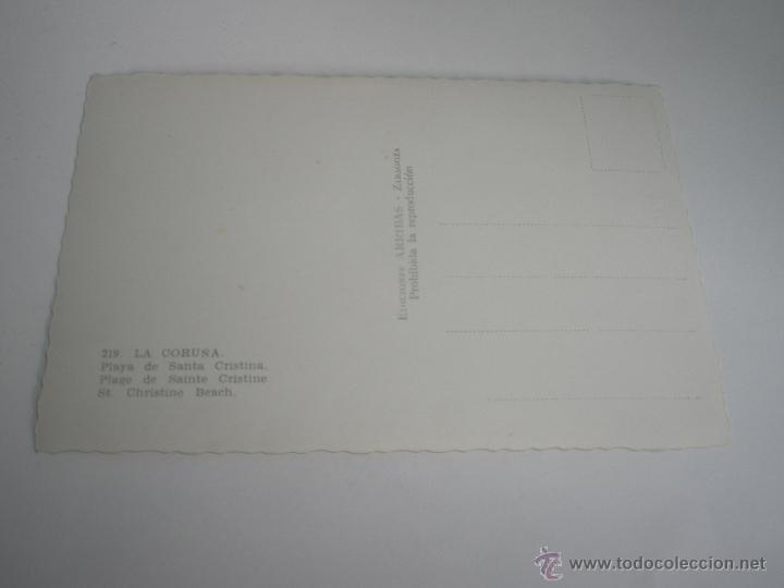 Postales: POSTAL--LA CORUÑA-PLAYA DE SANTA CRISTINA-1950?-NUEVA-. - Foto 4 - 42629917