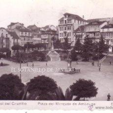 Postales: FERROL DEL CAUDILLO - PLAZA DEL MARQUES DE AMBOAGE ED. ARRIBAS Nº 4. Lote 42637832