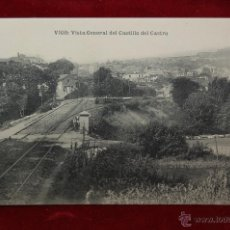 Postales: ANTIGUA POSTAL DE VIGO. PONTEVEDRA. VISTA GENERAL DEL CASTILLO DEL CASTRO. SIN CIRCULAR. Lote 42702923