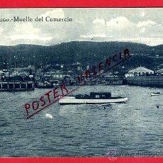 Postales: POSTAL VIGO, PONTEVEDRA, MUELLE DEL COMERCIO, P93019. Lote 42733095