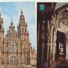 Postales: SANTIAGO DE COMPOSTELA. CATEDRAL. LOTE DE 2 POSTALES. AÑOS 50-60.. Lote 42845079