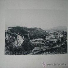 Postales: LAMINA FOTO HAUSER Y MENET 1891, REDONDELA (PONTEVEDRA) VISTA GENERAL. Lote 43043462