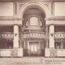 Postales: POSTAL DE LA CORUÑA - 13 PALACIO MUNICIPAL - SALON CAPITULAR - HELIOTIPIA DE KALLMEYER Y GAUTIER. Lote 43236512