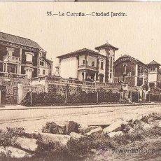 Postales: POSTAL DE LA CORUÑA - Nº 35 CIUDAD JARDIN - HELIOTIPIA DE KALLMEYER Y GAUTIER DE MADRID . Lote 43236716
