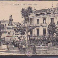 Postales: POSTAL ORENSE ESTATUA PADRE FEIJOO. Lote 43394762