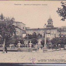 Postales: POSTAL ORENSE JARDINES CONCEPCION ARENAL . Lote 43394774