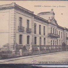 Postales: POSTAL ORENSE INSTITUTO GRAL. Y TECNICO . Lote 43394803