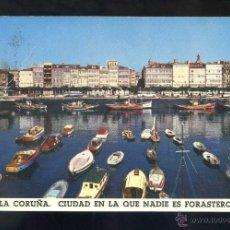 Postales: A CORUÑA *CIUDAD...* ED. FOURNIER. FOTO M. FERROL. CIRCULADA SANTIAGO CORREO AÉREO 1963.. Lote 43441990