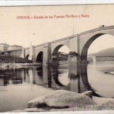 Postales: ORENSE DETALLE DE LOS PUENTES ROMANO Y NUEVO. CASTAÑEIRA, ALVAREZ Y LEVENFELD. SIN CIRCULAR.. Lote 43586003