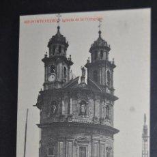 Postales: ANTIGUA POSTAL DE PONTEVEDRA. IGLESIA DE LA PEREGRINA. FOTPIA. THOMAS. SIN CIRCULAR. Lote 43889484