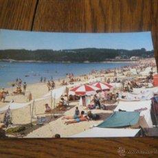 Postales: POSTAL SAGENJO PLAYA PONTEVEDRA AÑOS 70. Lote 44075906