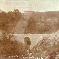 Postales: RARISIMA E IMPOSIBLE POSTAL DE COVELO 1913 - PONTEVEDRA - PUENTE DE SOUTO - SELLO PORTUGAL. Lote 44097977