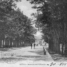Postales: RARISIMA POSTAL DE NOYA NOIA A CORUÑA 1913 - AVENIDA DEL CALVARIO - PHG VALLADOLID. Lote 44123344