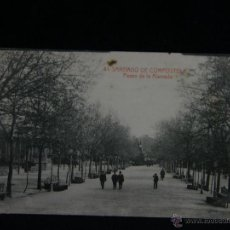 Postales: POSTAL CIRCULADA 41 SANTIAGO DE COMPOSTELA PASEO DE LA ALAMEDA FOTOTIPIA THOMAS BARCELONA. Lote 44696304