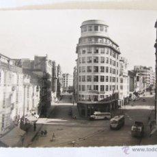 Postales: ANTIGUA FOTO POSTAL DE LA CORUÑA - CALLE DE FRANCISCO MARIÑO Y JUAN DE FLORES - Nº 46. Lote 44961752
