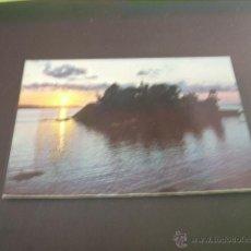 Postales: SANTA CRUZ (LA CORUÑA) CASTILLO DE SANTA CRUZ PUESTA DE SOL. Lote 45065066