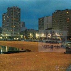 Postales: POSTAL - A CORUÑA - PLAZA DE RIAZOR NOCTURNA - NO CIRCULADA. Lote 45137490