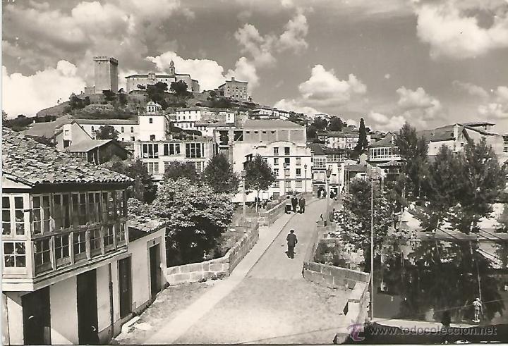 MONFORTE DE LEMOS - PUENTE ROMANO Y CASTILLO - Nº 53 ED. ARRIBAS (Postales - España - Galicia Moderna (desde 1940))