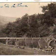 Postales: POSTAL FOTOGRÁFICA SAN PEDRO DE LA TORRE. ORENSE. CONSTRUCCIÓN MOLINO. SIN CIRCULAR.. Lote 45239426