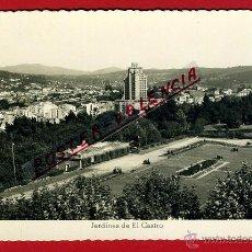 Postales: POSTAL VIGO, PONTEVEDRA, JARDINES DE EL CASTRO, P96132. Lote 45685598
