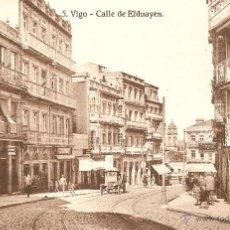Postales: VIGO Nº 5 CALLE DE ELDUAYEN HELIOTIPIA DE KALLMEYER Y GAUTIER SIN CIRCULAR. Lote 45733371