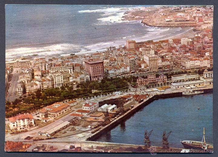 LA CORUÑA. VISTA PARCIAL AEREA (Postales - España - Galicia Moderna (desde 1940))