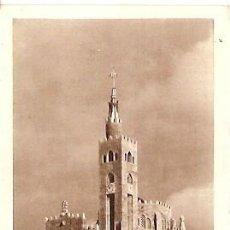 Postales: ANTIGUA POSTAL PANJON VIGO TEMPLO VOTIVO DEL MAR FOURNIER VITORIA ESCRITA 1952. Lote 45768739