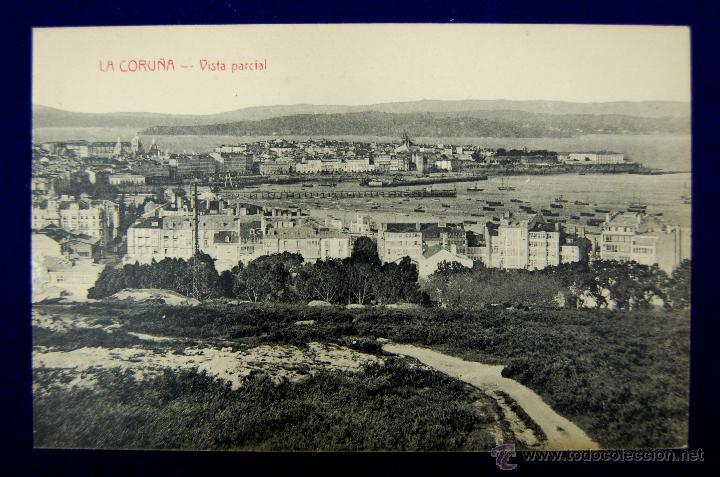 POSTAL DE LA CORUÑA. VISTA PARCIAL. EDICIÓN CORUÑA POSTAL. AÑOS 15-20 (Postales - España - Galicia Antigua (hasta 1939))