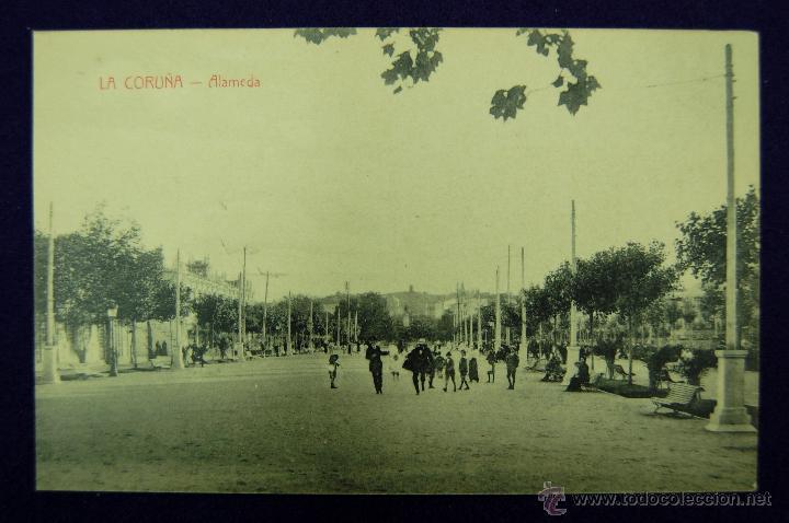 POSTAL DE LA CORUÑA. ALAMEDA. EDICIÓN CORUÑA POSTAL. AÑOS 15-20 (Postales - España - Galicia Antigua (hasta 1939))