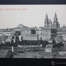 Postales: ANTIGUA POSTAL DE SANTIAGO DE COMPOSTELA. VISTA GENERAL. FOTPIA. THOMAS. ESCRITA. Lote 45919382