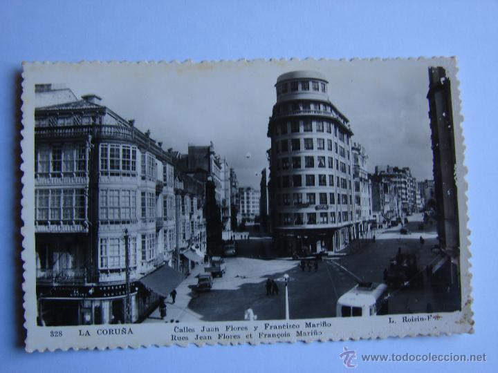 POSTA ANTIGUA. LA CORUÑA. SIN CIRCULAR. CALLE JUAN FLORES Y FRANCISCO MARIÑO. (Postales - España - Galicia Antigua (hasta 1939))