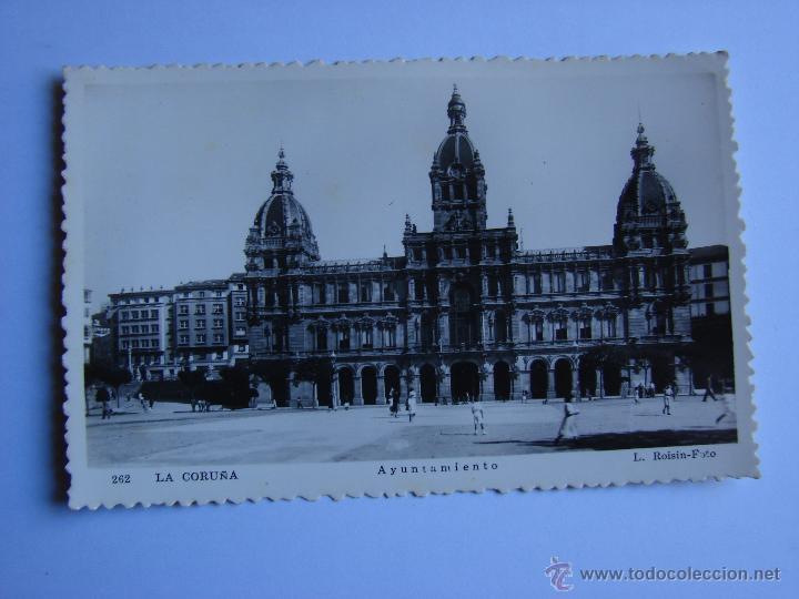 POSTA ANTIGUA. LA CORUÑA. SIN CIRCULAR. AYUNTAMIENTO (Postales - España - Galicia Antigua (hasta 1939))