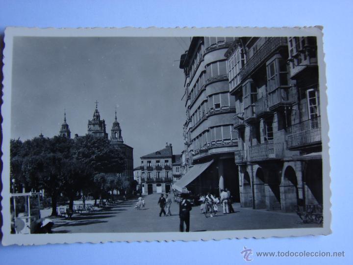 POSTAL ANTIGUA. LUGO. SIN CIRCULAR. PLAZA DE ESPAÑA (Postales - España - Galicia Antigua (hasta 1939))