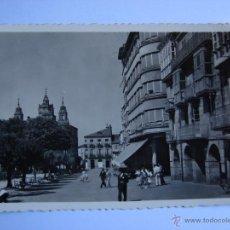 Postales: POSTAL ANTIGUA. LUGO. SIN CIRCULAR. PLAZA DE ESPAÑA. Lote 46008643