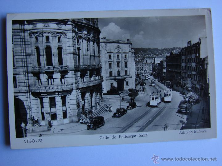 POSTAL ANTIGUA. VIGO. SIN CIRCULAR. CALLE DE POLICARPO SANZ (Postales - España - Galicia Antigua (hasta 1939))