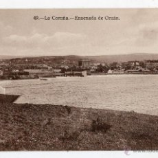 Postales: LA CORUÑA. ENSENADA DEL ORZÁN.. Lote 46154301