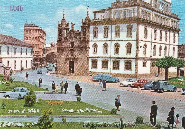 Nº 17255 POSTAL CALLE Y PUERTA DE SAN FRANCISCO IGLESIA DE SAN FROILAN LUGO (Postales - España - Galicia Moderna (desde 1940))