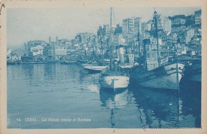 Nº 17090 POSTAL VIGO PONTEVEDRA LA CIUDAD SOBRE EL BERBES (Postales - España - Galicia Moderna (desde 1940))