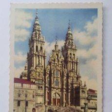 Postales: POSTAL SANTIAGO DE COMPOSTELA, CATEDRAL - FACHADA DEL OBRADOIRO. Lote 46354263