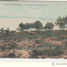 Postales: ISLA DE CORTEAGA (PONTEVEDRA).- LA RIA AROSA DESDE LA ISLA. Lote 46388604