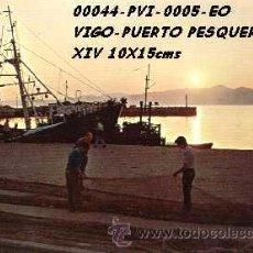 Postales: POSTAL VIGO PUERTO PESQUERO PUESTA DE SOL EDITORIAL ESCUDO DE ORO Nº5/44 AÑOS 60 Y 70*. Lote 162294504