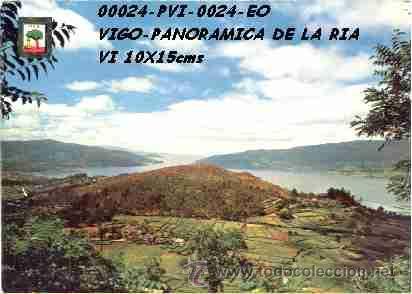 POSTAL VIGO VISTA PANORAMICA EDITORIAL ESCUDO DE ORO Nº24/24 AÑOS 60 Y 70* (Postales - España - Galicia Moderna (desde 1940))