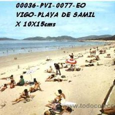 Cartes Postales: POSTAL VIGO PLAYA DE SAMIL EDITORIAL ESCUDO DE ORO Nº77/36/479/18EB AÑOS 60 Y 70*. Lote 46438659