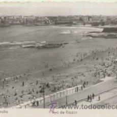 Postales: LA CORUÑA.- PLAYA DE RIAZOR. FRANQUEADO Y EN 1954.. Lote 46716134