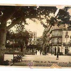 Postales: ORENSE PASEO DE LA ALMEDA Y CALLE PEREIRA. POSTAL FOTOGRAFICA. ESCRITA. Lote 46910973