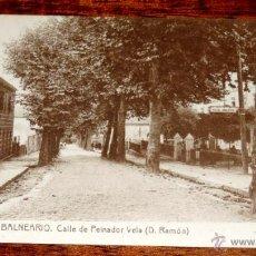 Postais: POSTAL DEL BALNEARIO DE MONDARIZ, PONTEVEDRA, N. 17, CALLE DE PEINADOR VELA, FOT. THOMAS, NO CIRCULA. Lote 46956595