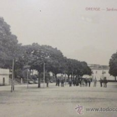 Postales: RARISIMA POSTAL DE ORENSE - OURENSE JARDINES DEL PASEO COMIENZOS DEL SIGLO XX. Lote 47038005