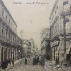 Postales: RARISIMA POSTAL DE ORENSE - OURENSE CALLE DE PAZ NOVOA COMIENZOS DEL SIGLO XX. Lote 47038068